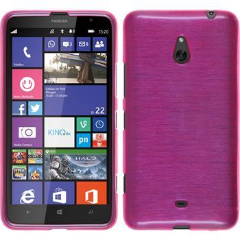 Silicone Case for Nokia Lumia 1320 brushed hot pink