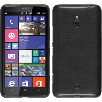 Silicone Case for Nokia Lumia 1320 brushed silver