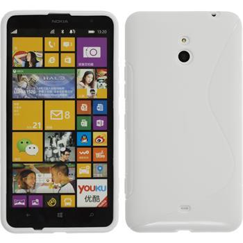 Silicone Case for Nokia Lumia 1320 S-Style white