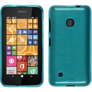 Silicone Case for Nokia Lumia 530 brushed blue