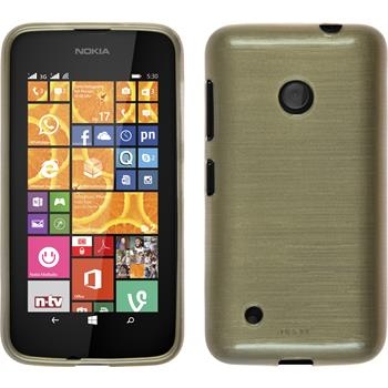 Silicone Case for Nokia Lumia 530 brushed gold