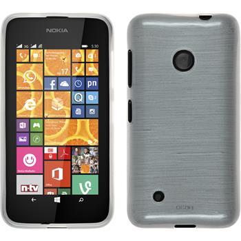 Silicone Case for Nokia Lumia 530 brushed white