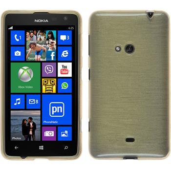 Silicone Case for Nokia Lumia 625 brushed gold
