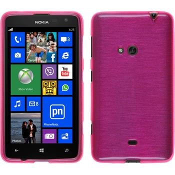 Silicone Case for Nokia Lumia 625 brushed hot pink
