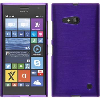 Silicone Case for Nokia Lumia 730 brushed purple
