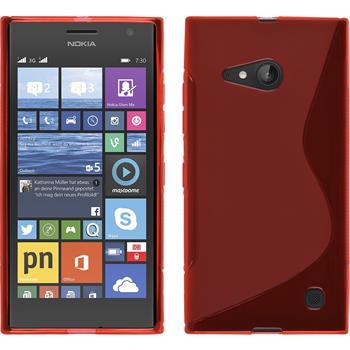 Silicone Case for Nokia Lumia 730 S-Style red