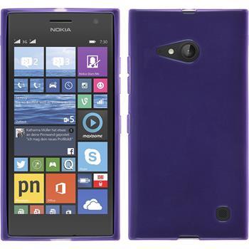Silicone Case for Nokia Lumia 730 transparent purple