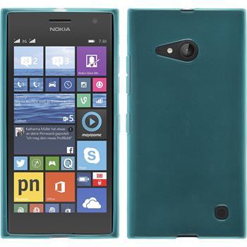 Silicone Case for Nokia Lumia 730 transparent turquoise