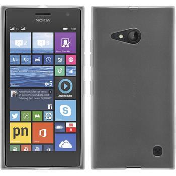 Silicone Case for Nokia Lumia 730 transparent white