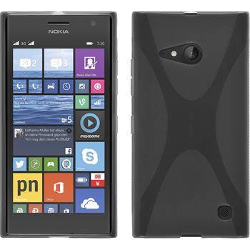 Silicone Case for Nokia Lumia 730 X-Style gray