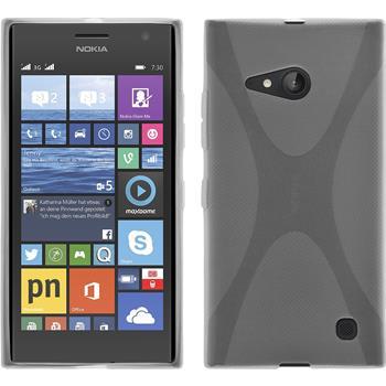 Silicone Case for Nokia Lumia 730 X-Style transparent