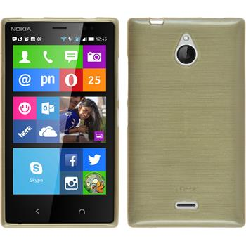 Silicone Case for Nokia X2 brushed gold