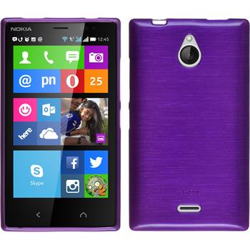 Silicone Case for Nokia X2 brushed purple