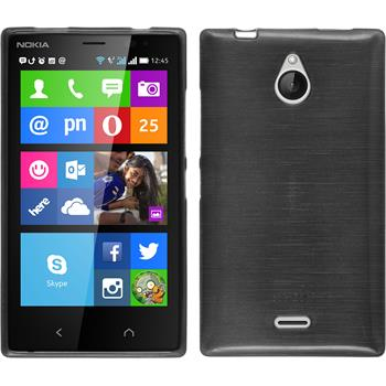 Silicone Case for Nokia X2 brushed silver