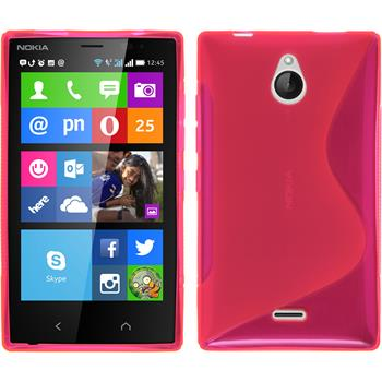 Silicone Case for Nokia X2 S-Style hot pink