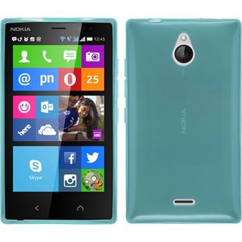 Silicone Case for Nokia X2 transparent turquoise