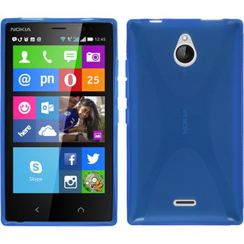 Silicone Case for Nokia X2 X-Style blue