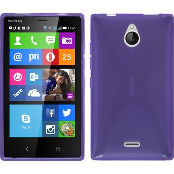 Silicone Case for Nokia X2 X-Style purple