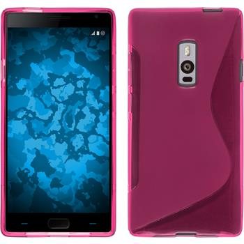 Silicone Case for OnePlus OnePlus 2 S-Style hot pink