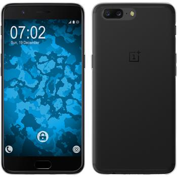 Silicone Case OnePlus 5 transparent Crystal Clear + protective foils