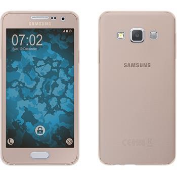 Silicone Case for Samsung Galaxy A3 (A300) 360° Fullbody gold