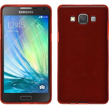 Silicone Case for Samsung Galaxy A3 brushed red