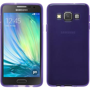 Silicone Case for Samsung Galaxy A3 transparent purple