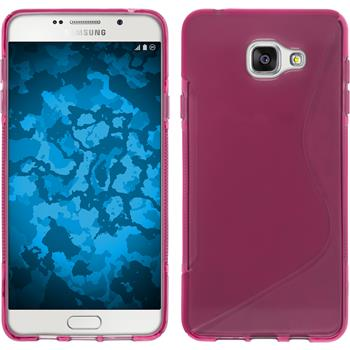 Silicone Case for Samsung Galaxy A5 (2016) S-Style hot pink