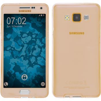 Silicone Case for Samsung Galaxy A5 (A500) 360° Fullbody gold
