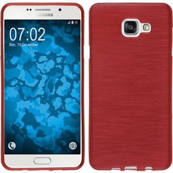Silicone Case for Samsung Galaxy A7 (2016) brushed red