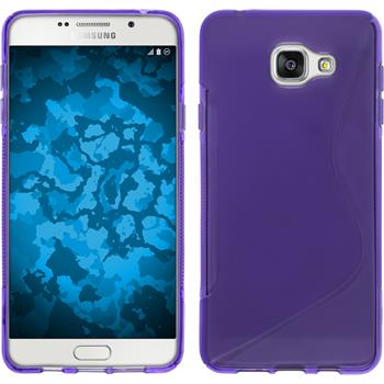Silicone Case for Samsung Galaxy A7 (2016) S-Style purple