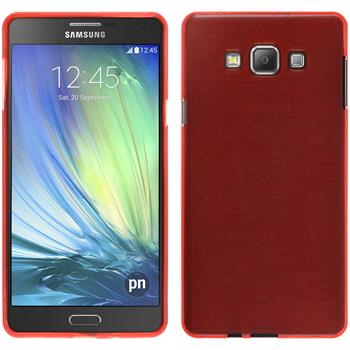 Silicone Case for Samsung Galaxy A7 brushed red
