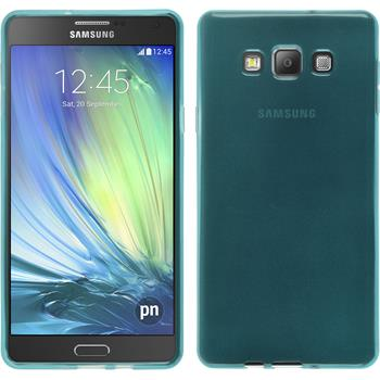 Silicone Case for Samsung Galaxy A7 transparent turquoise