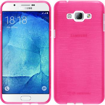 Silicone Case for Samsung Galaxy A8 brushed hot pink