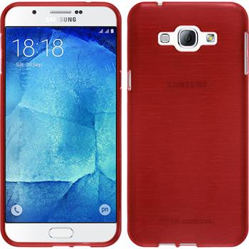 Silicone Case for Samsung Galaxy A8 brushed red