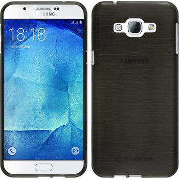 Silicone Case for Samsung Galaxy A8 brushed silver