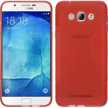 Silicone Case for Samsung Galaxy A8 S-Style red