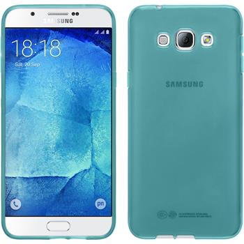 Silicone Case for Samsung Galaxy A8 transparent turquoise