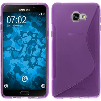 Silicone Case for Samsung Galaxy A9 (2016) S-Style purple