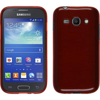 Silicone Case for Samsung Galaxy Ace 3 brushed red