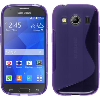 Silicone Case for Samsung Galaxy Ace 4 S-Style purple