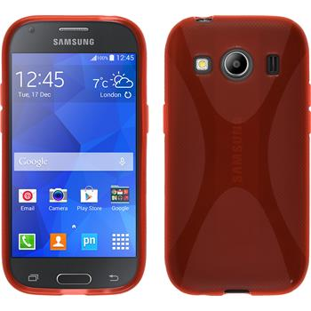 Silicone Case for Samsung Galaxy Ace 4 X-Style red