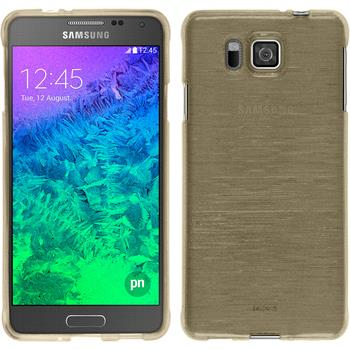 Silicone Case for Samsung Galaxy Alpha brushed gold