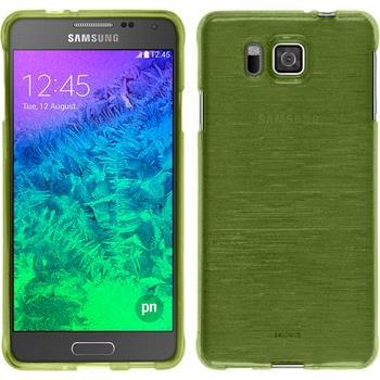 Silicone Case for Samsung Galaxy Alpha brushed pastel green