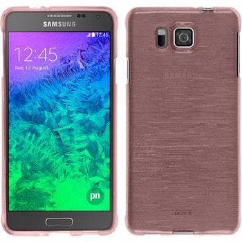 Silicone Case for Samsung Galaxy Alpha brushed pink