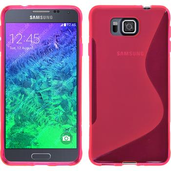 Silicone Case for Samsung Galaxy Alpha S-Style hot pink