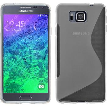 Silicone Case for Samsung Galaxy Alpha S-Style transparent