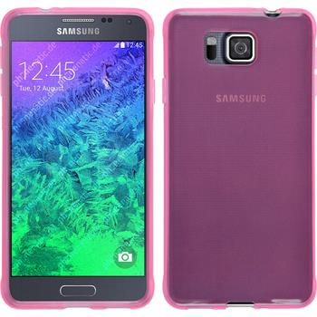 Silicone Case for Samsung Galaxy Alpha transparent pink