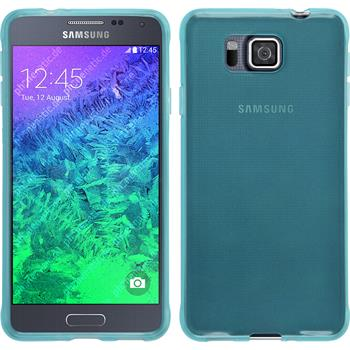 Silicone Case for Samsung Galaxy Alpha transparent turquoise