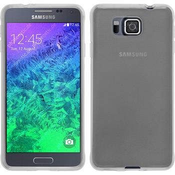 Silicone Case for Samsung Galaxy Alpha transparent white